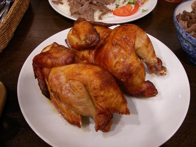 Kuře dušené na žampionech
