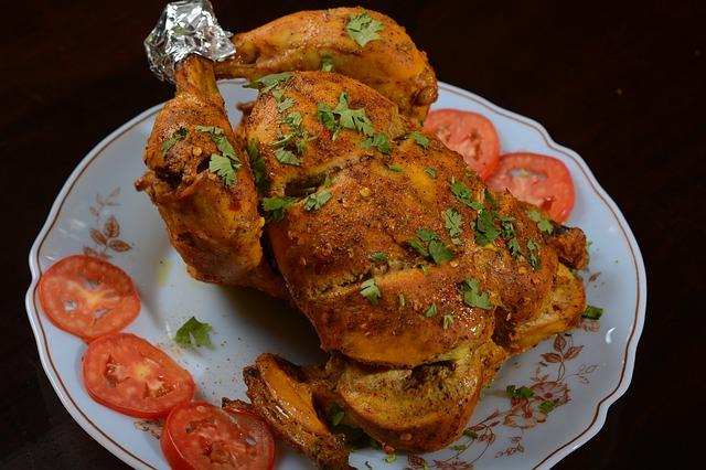Kuře na víně s cibulí a rajčaty