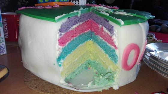 Barevný narozeninový dortík